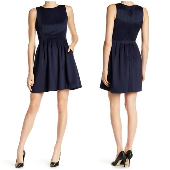 Vince Camuto Dresses & Skirts - NWT Vince Camuto Black Fit & Flare Scuba Dress